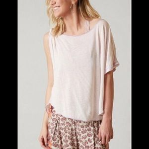 FREE PEOPLE PLUTO ONE-SHOULDER OVERSIZED BOHO TEE